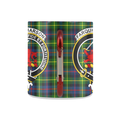 Image of Farquharson Modern Tartan Mug Classic Insulated - Clan Badge K7