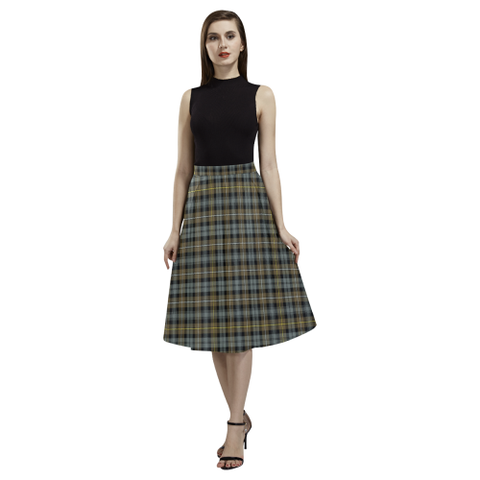 Campbell Argyll Weathered Tartan Aoede Crepe Skirt | Exclusive Over 500 Tartan