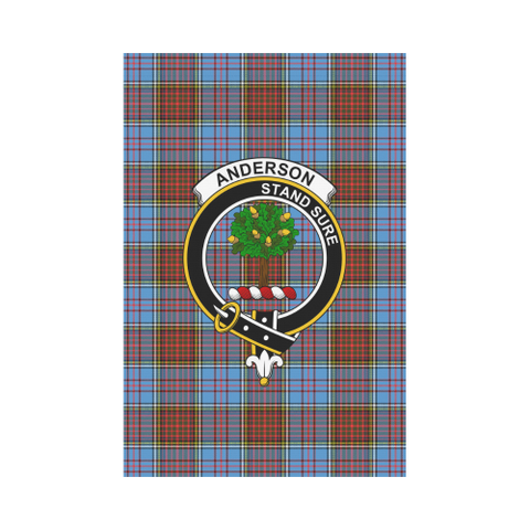 Anderson Modern Tartan Flag Clan Badge K7
