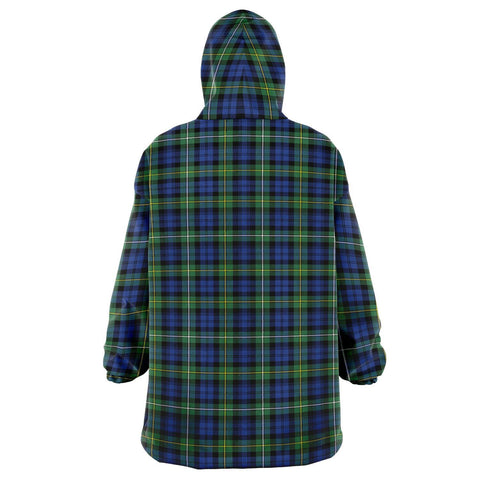 Campbell Argyll Ancient Snug Hoodie - Unisex Tartan Plaid Back