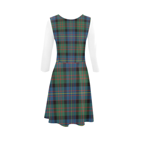 Image of Cameron of Erracht Ancient Tartan 3/4 Sleeve Sundress | Exclusive Over 500 Clans