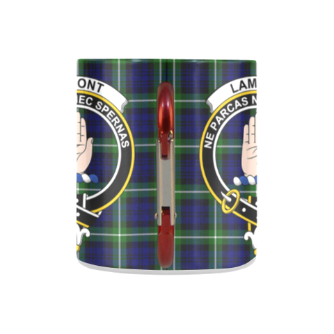 Lamont Modern Tartan Mug Classic Insulated - Clan Badge K7