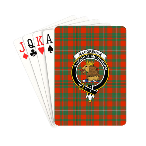 MacGregor Ancient Tartan Clan Badge Playing Card | scottishclans.co
