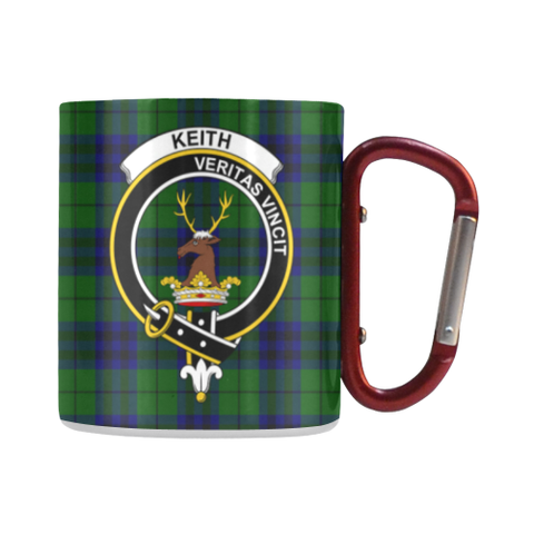 Image of Keith Modern Tartan Mug Classic Insulated - Clan Badge | scottishclans.co