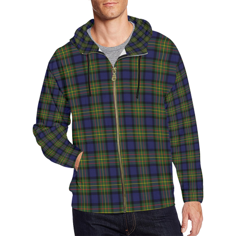 MacLaren Modern Tartan Zipped Hoodie | Special Custom Products
