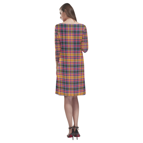 Tartan dresses - Jacobite Tartan Dress - Round Neck Dress TH8