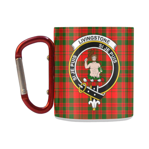 Livingstone Modern Tartan Mug Classic Insulated - Clan Badge K7