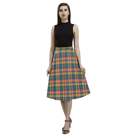 Buchanan Ancient Tartan Aoede Crepe Skirt | Exclusive Over 500 Tartan