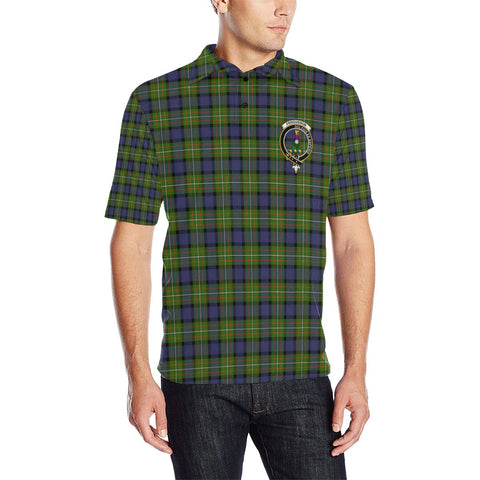 Fergusson Modern Tartan Clan Badge Polo Shirt