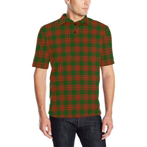 Menzies Green Modern Tartan Polo Shirt
