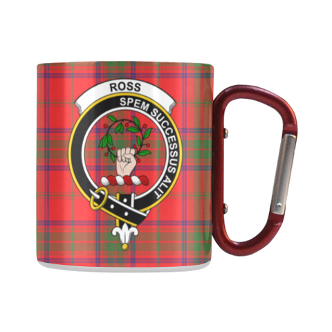 Ross Modern Tartan Mug Classic Insulated - Clan Badge | scottishclans.co