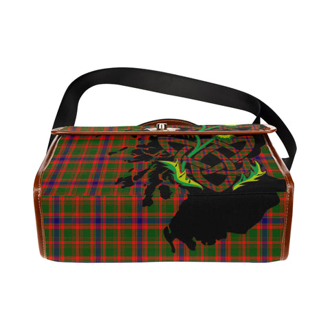 Nithsdale District Tartan Map & Thistle Waterproof Canvas Handbag| Hot Sale