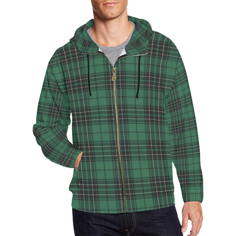 Image of MacLean Hunting Ancient Tartan Zipped Hoodie | Special Custom Products