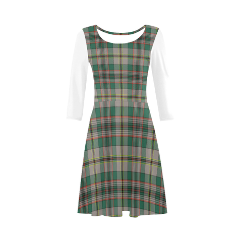 Craig Ancient Tartan 3/4 Sleeve Sundress | Exclusive Over 500 Clans