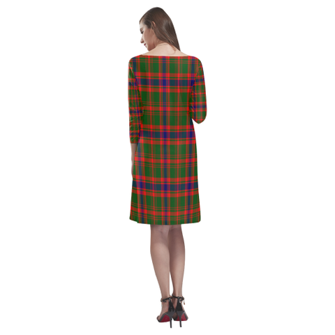 Nithsdale District Tartan Dress - Rhea Loose Round Neck Dress TH8
