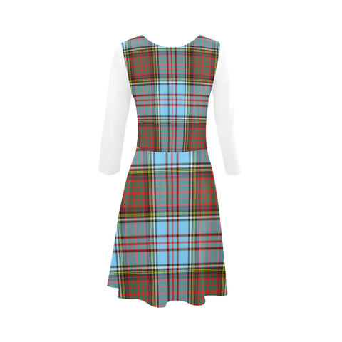 Image of Anderson Ancient Tartan 3/4 Sleeve Sundress | Exclusive Over 500 Clans