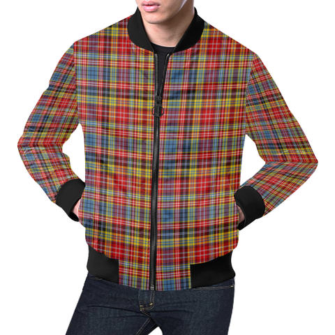Drummond of Strathallan Tartan Bomber Jacket | Scottish Jacket | Scotland Clothing
