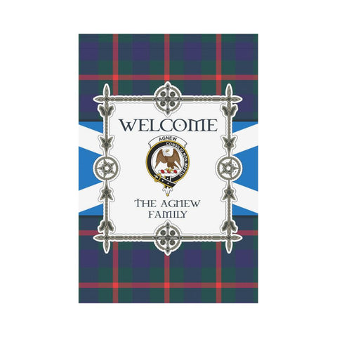 Image of Agnew Tartan Garden Flag - New Version | Scottishclans.co