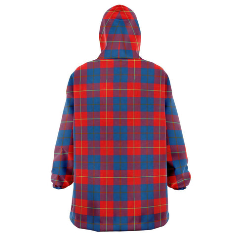 Galloway Red Snug Hoodie - Unisex Tartan Plaid Back