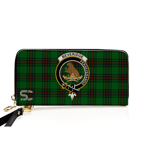 Beveridge Crest Tartan Zipper Wallet