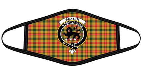 Baxter Clan badge Tartan Mask K7