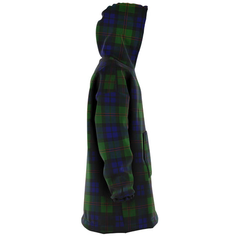 Dundas Modern Snug Hoodie - Unisex Tartan Plaid Right