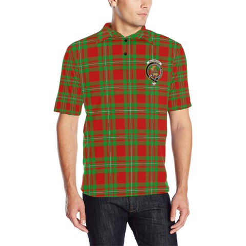 Macgregor Modern Tartan Clan Badge Polo Shirt