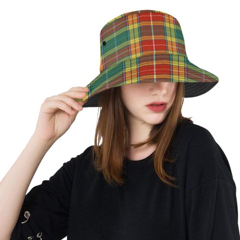 Image of Buchanan Old Sett Tartan Bucket Hat for Women and Men | Scottishclans.co