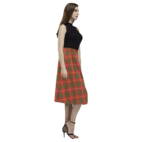 Image of Bruce Modern Tartan Aoede Crepe Skirt | Exclusive Over 500 Tartan