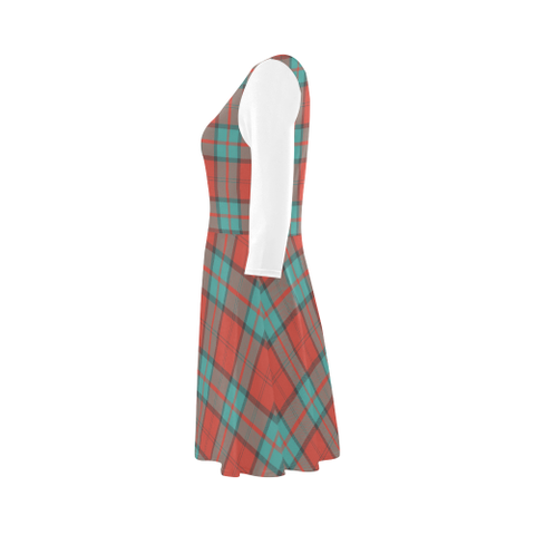 Dunbar Ancient Tartan 3/4 Sleeve Sundress | Exclusive Over 500 Clans