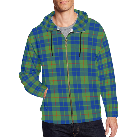 Barclay Hunting Ancient Tartan Zipped Hoodie | Special Custom Products