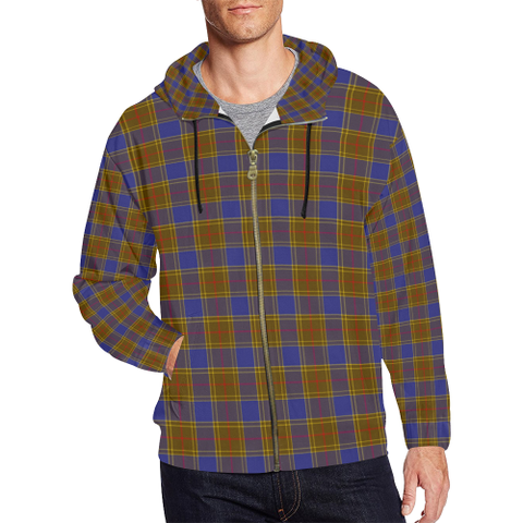 Balfour Modern Tartan Zipped Hoodie | Special Custom Products