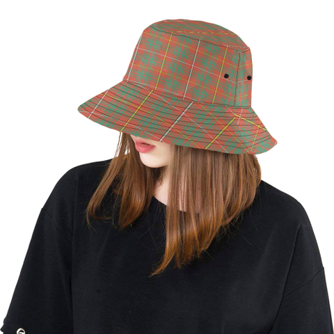Image of Bruce Ancient Tartan Bucket Hat for Women and Men K7