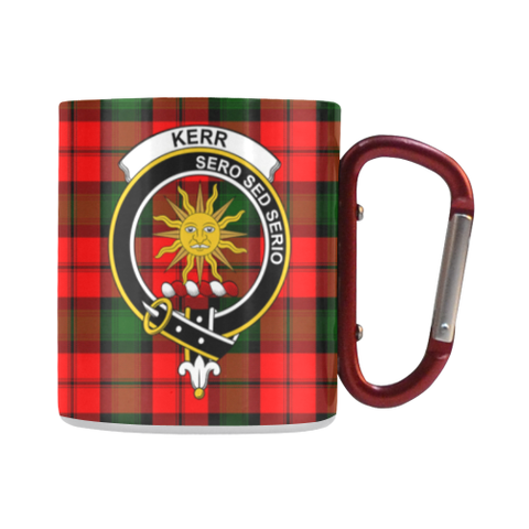 Kerr Modern Tartan Mug Classic Insulated - Clan Badge | scottishclans.co