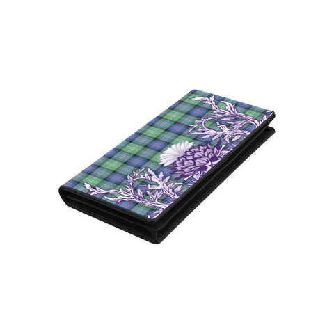 Sutherland Old Ancient Tartan Wallet Women's Leather Wallet A91 | Over 500 Tartan