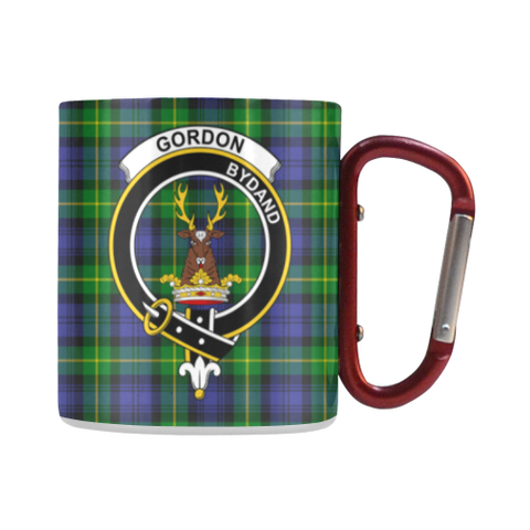 Gordon Modern Tartan Mug Classic Insulated - Clan Badge | scottishclans.co