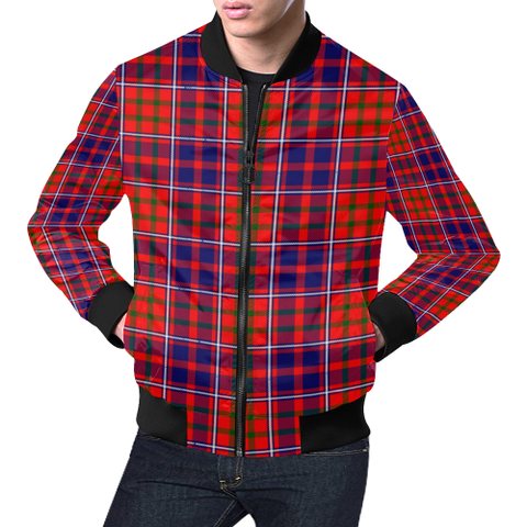 Cameron of Lochiel Modern Tartan Bomber Jacket | Scottish Jacket | Scotland Clothing