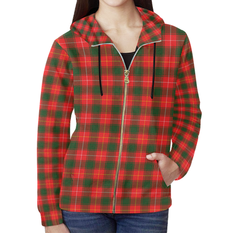 MacPhee Modern Tartan Zipped Hoodie | Special Custom Products