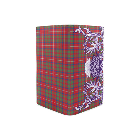 Shaw Red Modern Tartan Wallet Women's Leather Thistle A91