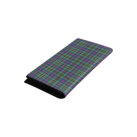 Wood Modern Tartan Wallet Women's Leather Thistle A91