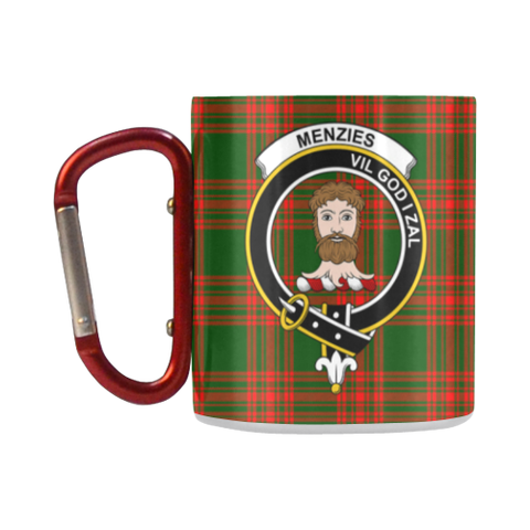 Menzies Tartan Mug Classic Insulated - Clan Badge K7