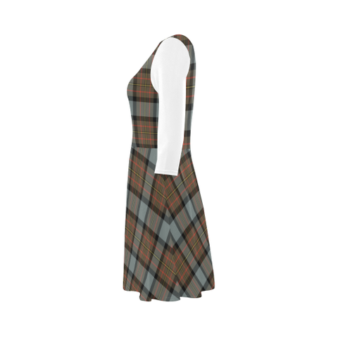 MacLaren Weathered Tartan 3/4 Sleeve Sundress | Exclusive Over 500 Clans