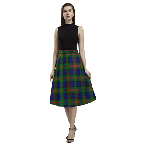 Image of Dundas Modern 02 Tartan Aoede Crepe Skirt | Exclusive Over 500 Tartan