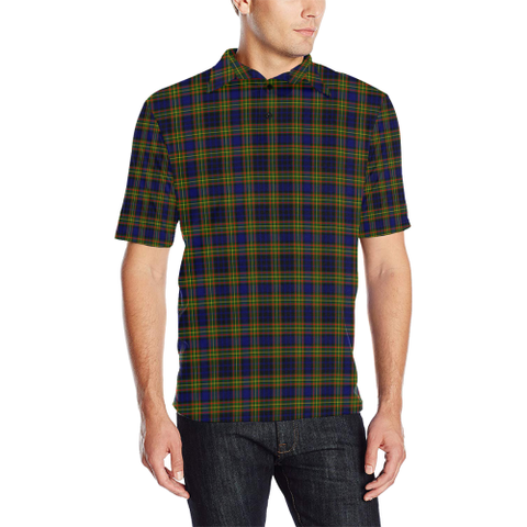 Image of Clelland Modern  Tartan Polo Shirt