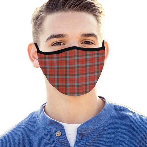 Robertson Weathered Tartan Mouth Mask With Filter | scottishclans.co