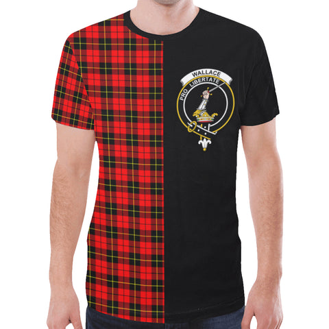 Image of Wallace Hunting - Red T-shirt Half In Me | scottishclans.co