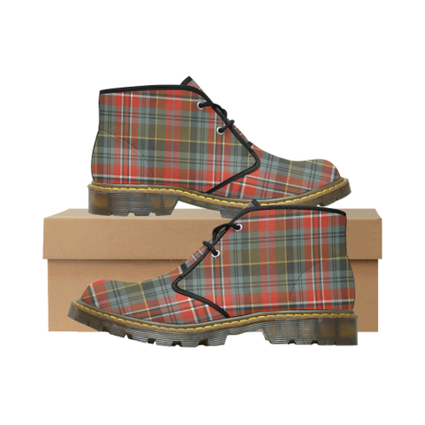 MacPherson Weathered Tartan Chukka Boot | Over 500 Tartans | Special Custom Design | Love Scotland