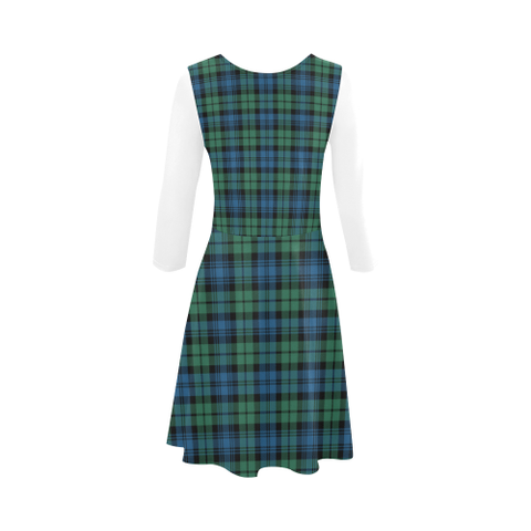Campbell Ancient 02 Tartan 3/4 Sleeve Sundress | Exclusive Over 500 Clans