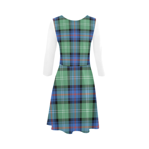 Sutherland Old Ancient  Tartan 3/4 Sleeve Sundress | Exclusive Over 500 Clans