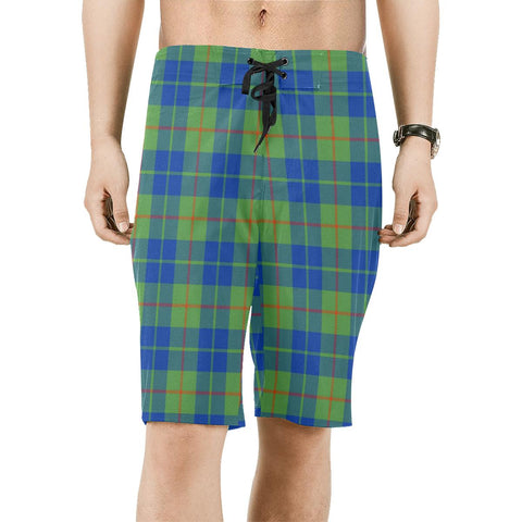 Image of Barclay Hunting Ancient Tartan Board Shorts | scottishclans.co